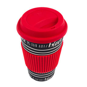 Cambridge CM05512 Caffeine Is the New Black Bamboo Eco Travel Mug, Set of 8 Thumbnail 3