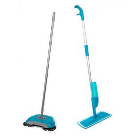 Beldray COMBO-3576 Telescopic Spray Mop with Spinning Hard Floor Sweeper, 2 Piece