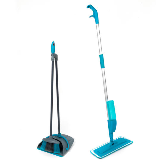 Beldray COMBO-3577 Telescopic Spray Mop with Dustpan and Broom Cleaning Set, 3 Piece