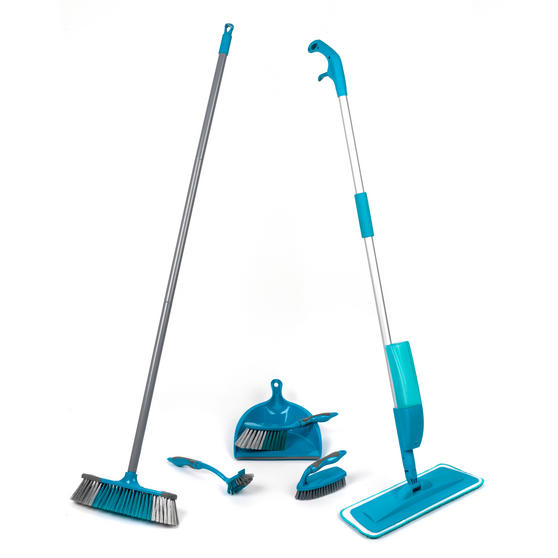 Beldray COMBO-3579 Telescopic Spray Mop with Household Cleaning Brushes Set, 6 Piece