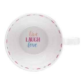 Portobello CM06017 Wilmslow Live Laugh Love Floral Mug, Set of 2 Thumbnail 5
