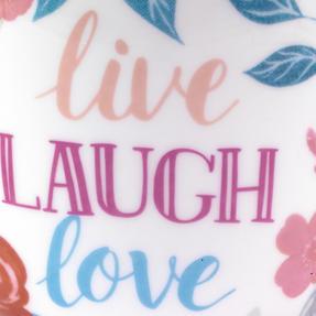 Portobello CM06017 Wilmslow Live Laugh Love Floral Mug, Set of 4 Thumbnail 3