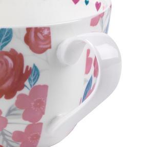 Portobello CM06017 Wilmslow Live Laugh Love Floral Mug, Set of 4 Thumbnail 4