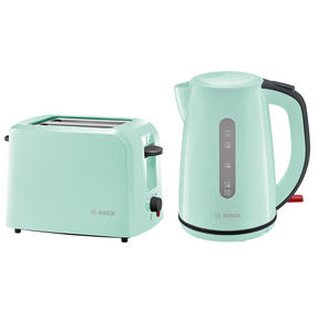 Bosch COMBO-3474 Country 1.7 Litre Kettle with Two Slice Toaster, Mint Green Thumbnail 1