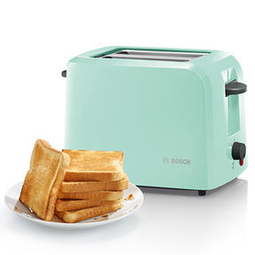 Bosch COMBO-3474 Country 1.7 Litre Kettle with Two Slice Toaster, Mint Green Thumbnail 2