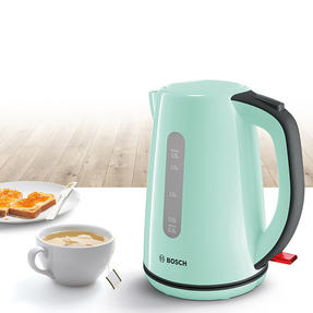 Bosch COMBO-3474 Country 1.7 Litre Kettle with Two Slice Toaster, Mint Green Thumbnail 3