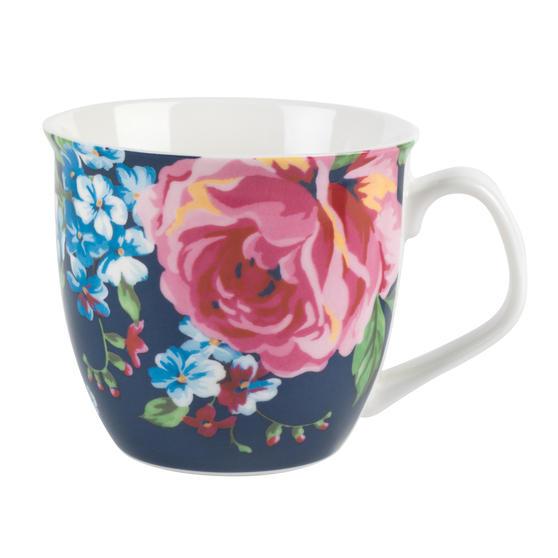 Cambridge CM057151 Oxford Bethany Navy Fine China Mug, Set of 6