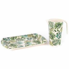 Cambridge COMBO-2081 Polynesia Bamboo Eco Friendly 1.5 Litre Jug and Rectangular Tray - 2 Piece Thumbnail 1