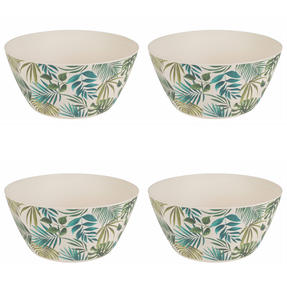 Cambridge COMBO-3674 Polynesia Bamboo Eco Friendly Plates and Bowls Tableware, 8 Piece Thumbnail 5