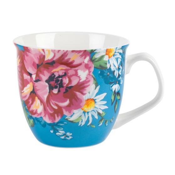Cambridge CM057141 Oxford Helena Blue Fine China Mug, Set of 8
