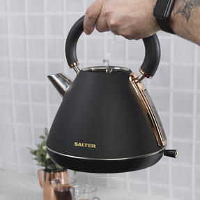 Salter Pyramid Kettle, 1.7 Litre, 3000W, Rose Gold Edition Thumbnail 6