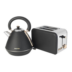 Salter COMBO-3646 1.7 Litre Pyramid Kettle with Two Slice Toaster, Rose Gold Edition