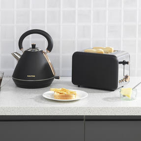 Salter COMBO-3646 1.7 Litre Pyramid Kettle with Two Slice Toaster, Rose Gold Edition Thumbnail 5