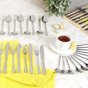 Salter COMBO-2153 Bakewell Kitchen Dining Room Cutlery Set, 48 Piece, Stainless Steel Thumbnail 2