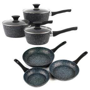 Salter COMBO-3689 Megastone Non-Stick Frying Pan and Saucepan Set, 6 Piece Thumbnail 1