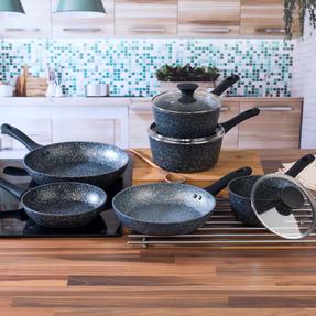 Salter COMBO-3689 Megastone Non-Stick Frying Pan and Saucepan Set, 6 Piece Thumbnail 2
