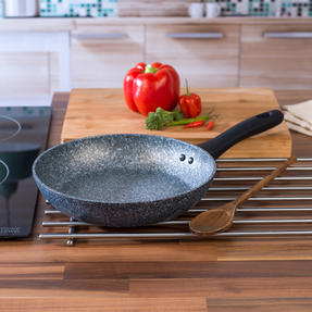 Salter COMBO-3691 Megastone Non-Stick Frying Pan and Wok Set with Nylon Slotted Spatula Thumbnail 7
