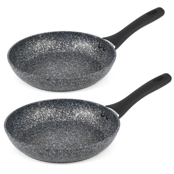 Salter COMBO-3692 Megastone Non-Stick Frying Pan Set, 24 / 28 cm, 2 Piece