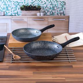 Salter COMBO-3692 Megastone Non-Stick Frying Pan Set, 24 / 28 cm, 2 Piece Thumbnail 2