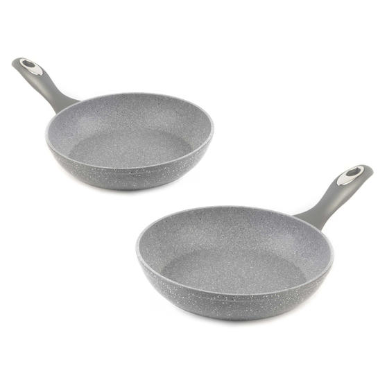 Salter COMBO-1917 Marble Collection Non-Stick Frying Pans, 24 / 28 cm, 2 Piece