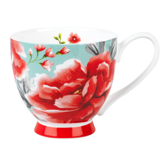 Portobello CM049601 Sandringham Akira Bone China Mug, Set of 6