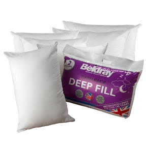 Beldray COMBO-3368 Deep Fill Pillow, Pack of 6, White