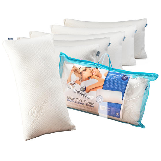 Dreamtime COMBO-3470 Memory Foam Choice Comfort Pillow, Set of 6