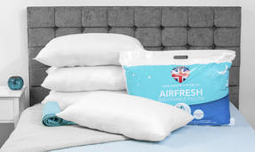 Dreamtime COMBO-3403 Airfresh Breathable Pillow, Polyester, Set of 2, White Thumbnail 2