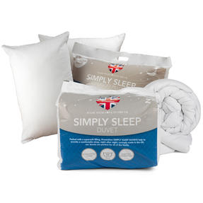 Dreamtime COMBO-3396 Simply Sleep  10.5 Tog Duvet and Twin Pack Pillows, Single, White Thumbnail 1