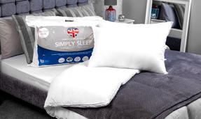 Dreamtime COMBO-3396 Simply Sleep  10.5 Tog Duvet and Twin Pack Pillows, Single, White Thumbnail 2