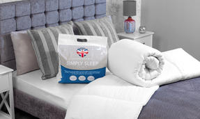 Dreamtime COMBO-3396 Simply Sleep  10.5 Tog Duvet and Twin Pack Pillows, Single, White Thumbnail 3