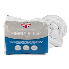 Dreamtime COMBO-3396 Simply Sleep  10.5 Tog Duvet and Twin Pack Pillows, Single, White Thumbnail 6