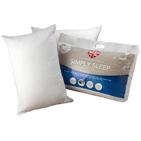 Dreamtime COMBO-3396 Simply Sleep  10.5 Tog Duvet and Twin Pack Pillows, Single, White Thumbnail 7