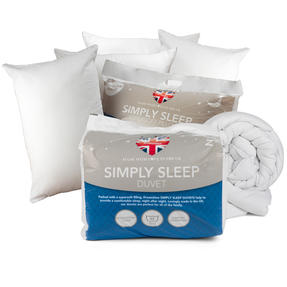 Dreamtime COMBO-3409 Simply Sleep 10.5 Tog Duvet with Four Pillows, King Size, White Thumbnail 1