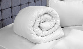 Dreamtime COMBO-3409 Simply Sleep 10.5 Tog Duvet with Four Pillows, King Size, White Thumbnail 3