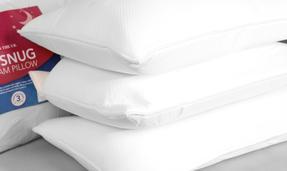 Dreamtime COMBO-3375 Softly Snug Memory Foam Pillow, Set of 4, White Thumbnail 3
