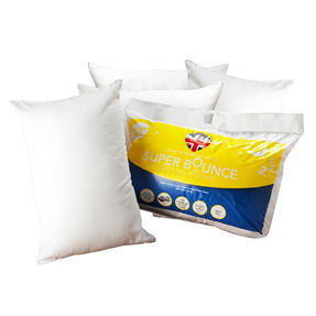 Dreamtime COMBO-3381 Super Bounce Hollow Fibre Pillow, Pack of 4, White
