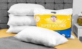 Dreamtime COMBO-3381 Super Bounce Hollow Fibre Pillow, Pack of 4, White Thumbnail 3