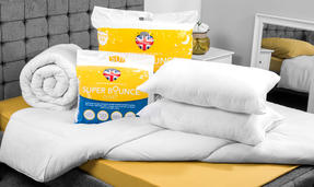 Dreamtime COMBO-3393 Super Bounce 13.5 Tog Duvet with Twin Pack Pillows, Single, Polyester, White Thumbnail 2