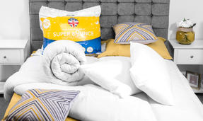 Dreamtime COMBO-3393 Super Bounce 13.5 Tog Duvet with Twin Pack Pillows, Single, Polyester, White Thumbnail 3