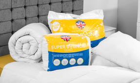Dreamtime COMBO-3393 Super Bounce 13.5 Tog Duvet with Twin Pack Pillows, Single, Polyester, White Thumbnail 4