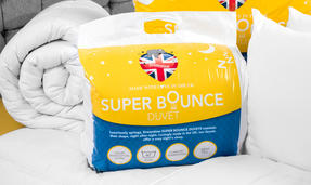 Dreamtime COMBO-3393 Super Bounce 13.5 Tog Duvet with Twin Pack Pillows, Single, Polyester, White Thumbnail 5