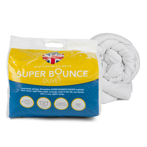 Dreamtime COMBO-3393 Super Bounce 13.5 Tog Duvet with Twin Pack Pillows, Single, Polyester, White Thumbnail 8