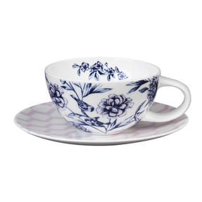 Portobello CM04956 Suzume Bone China Cup and Saucer, Set of 2 Thumbnail 1