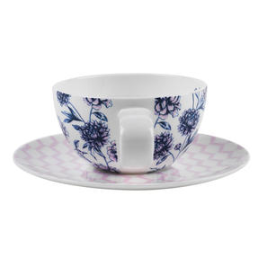 Portobello CM04956 Suzume Bone China Cup and Saucer, Set of 2 Thumbnail 6