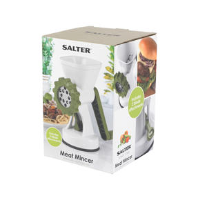 Salter BW06543AR Meat Mincer with Two Blade Attachments, White/Green Thumbnail 8