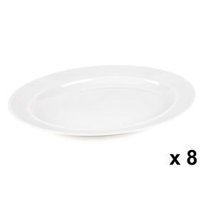 Alessi COMBO-3908 La Bella Tavola Porcelain Serving Platter, 36 cm, Set of 8 Thumbnail 1