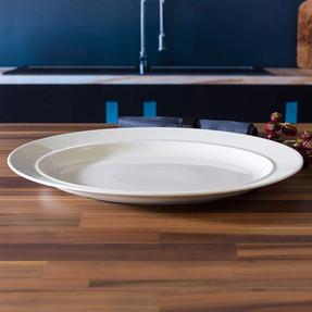 Alessi COMBO-3908 La Bella Tavola Porcelain Serving Platter, 36 cm, Set of 8 Thumbnail 3
