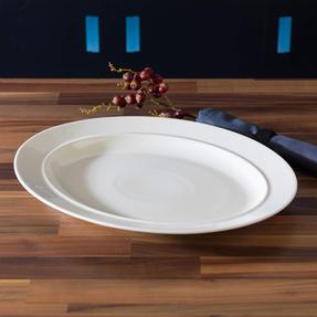 Alessi COMBO-3908 La Bella Tavola Porcelain Serving Platter, 36 cm, Set of 8 Thumbnail 4