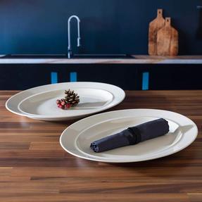 Alessi COMBO-3908 La Bella Tavola Porcelain Serving Platter, 36 cm, Set of 8 Thumbnail 5